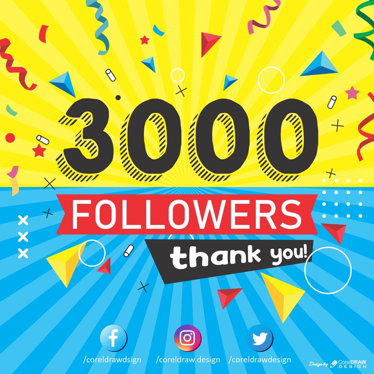 3k Followers Thank you CDR template