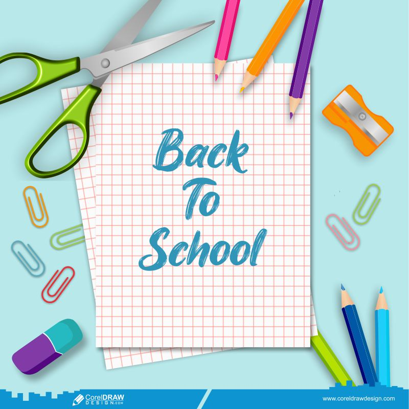 Back To School Banner Handdrawn Education Icons Free Vector