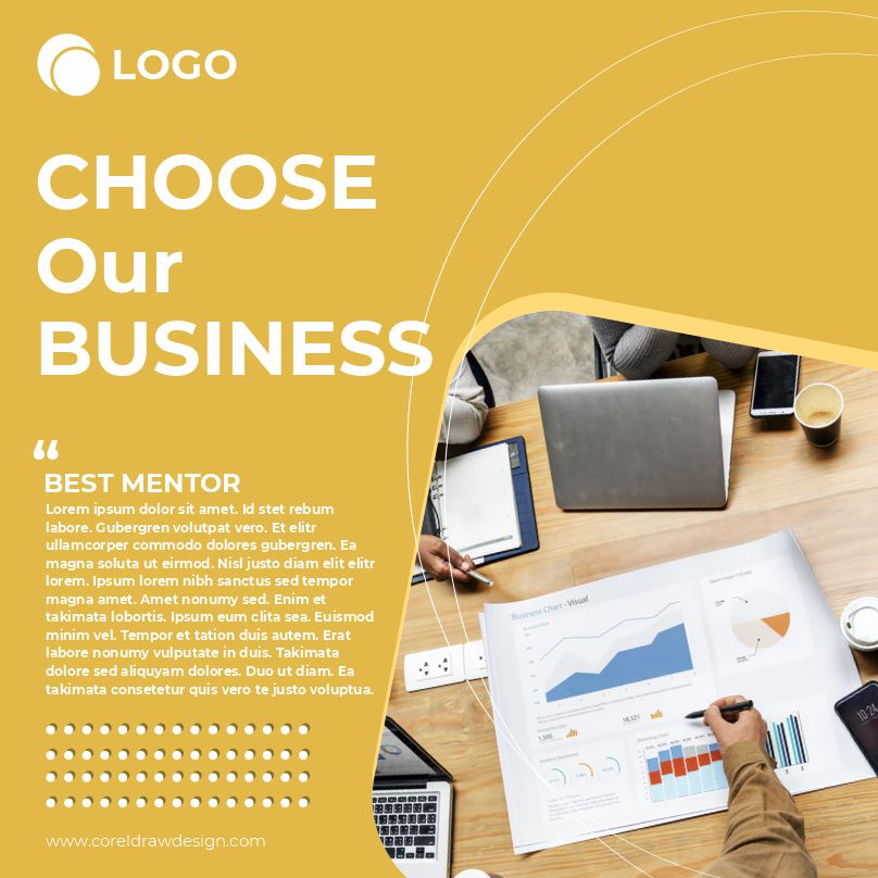Choose Our Business Download Free Poster Template From Coreldrawdesign