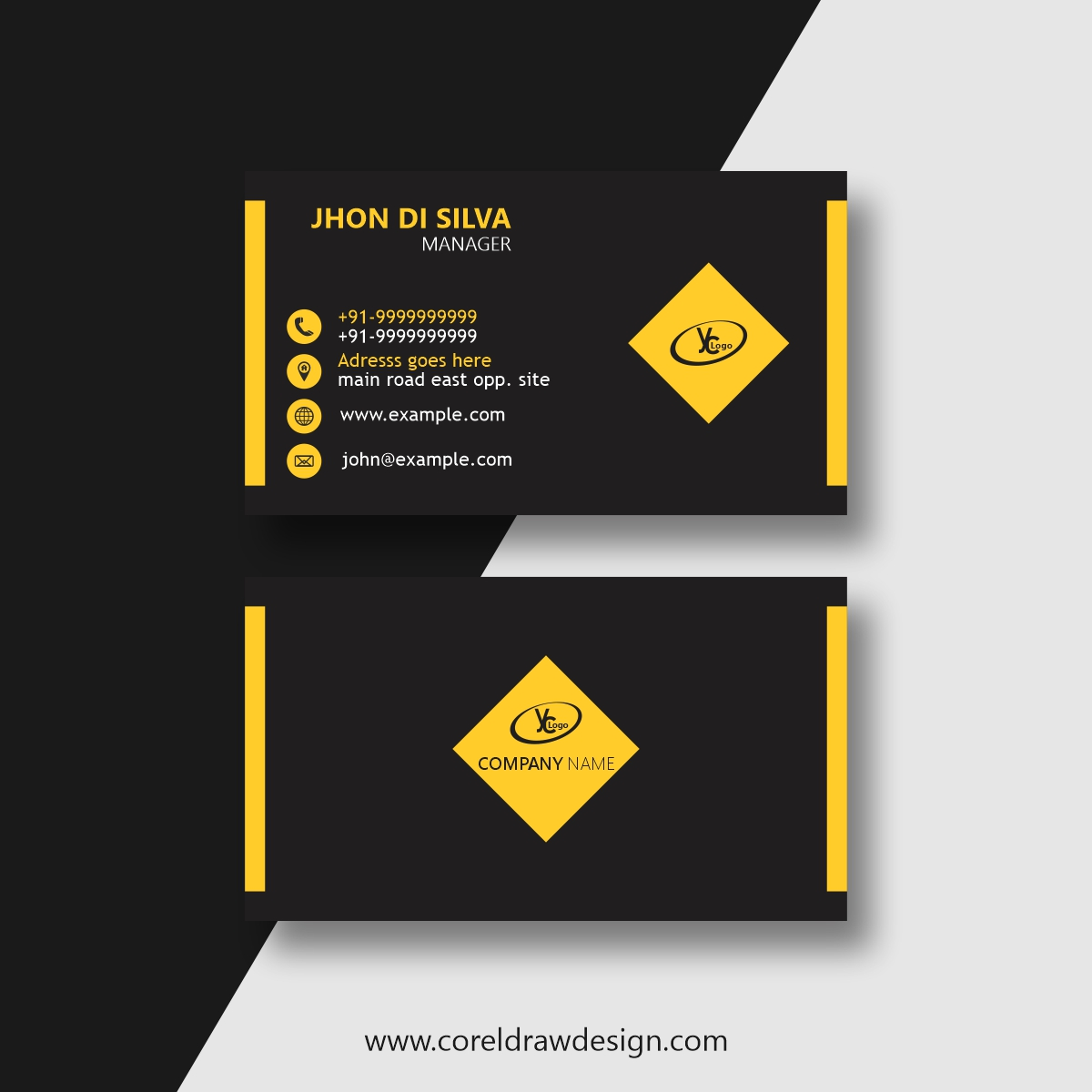 Download Clean Style Modern Business Card Template   CorelDraw ...