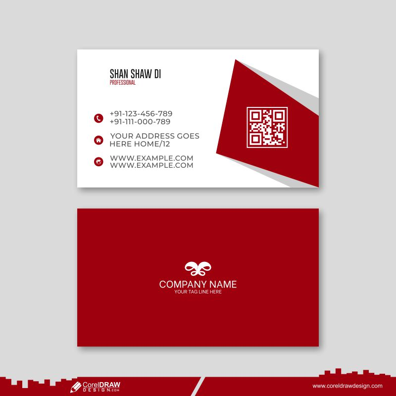 Clean Style Modern Business Card Template Free Vector