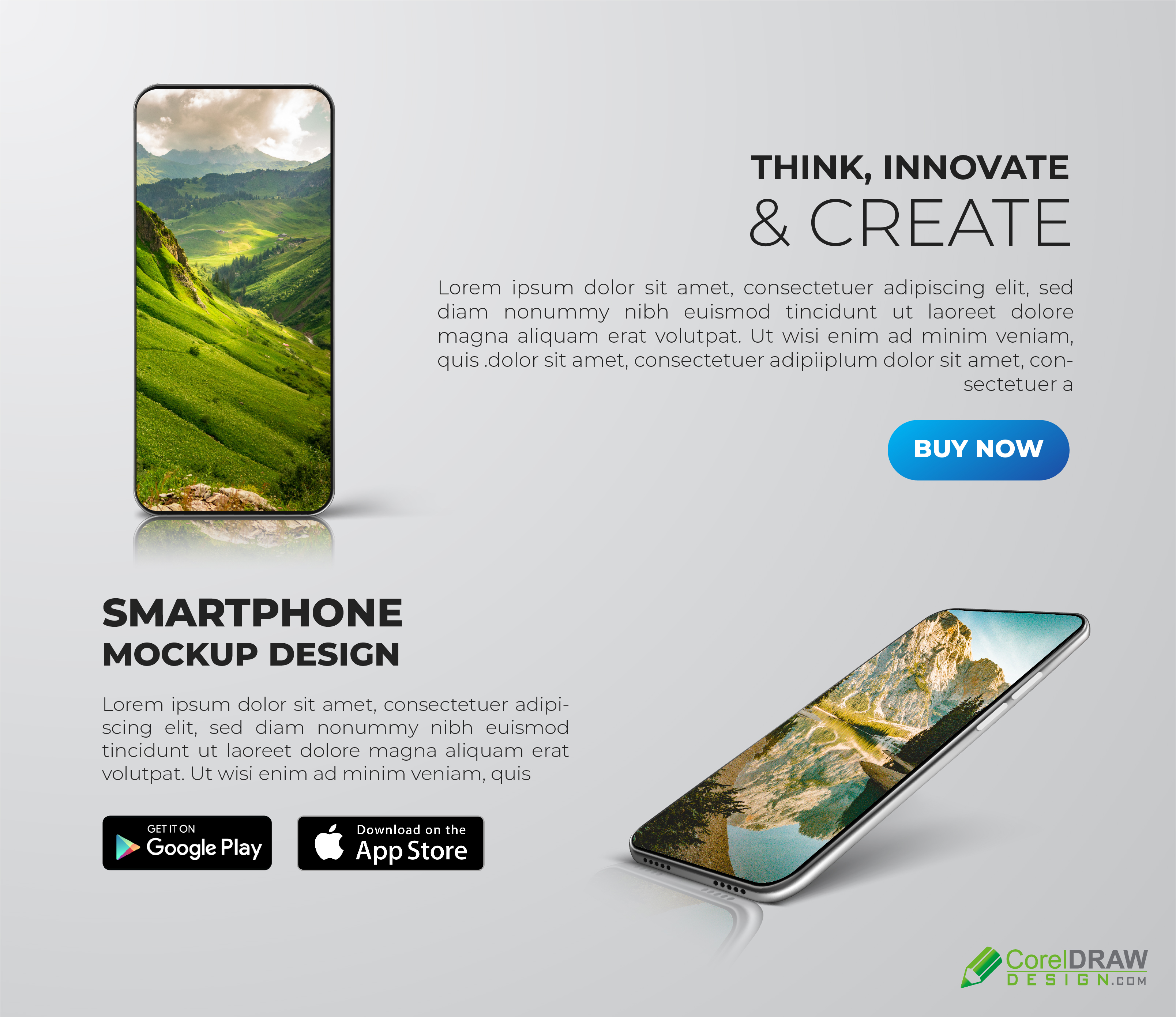 Corporate Android ios Mobile Phone Presentation Banner Advertisement Poster