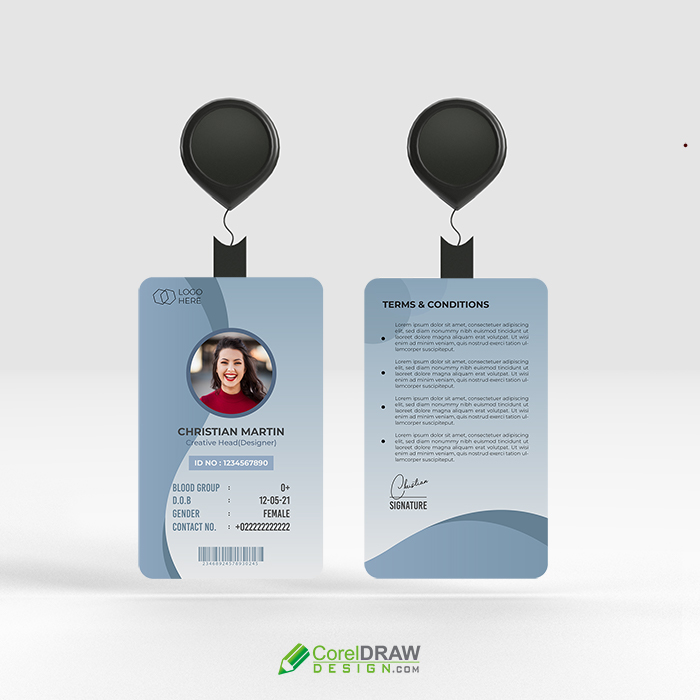 Corporate Professional identity card vector template
