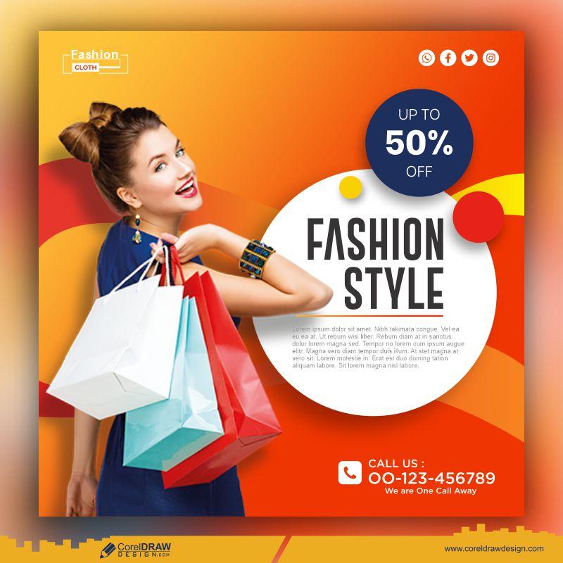 Fashion Style Template Free Premium Vector