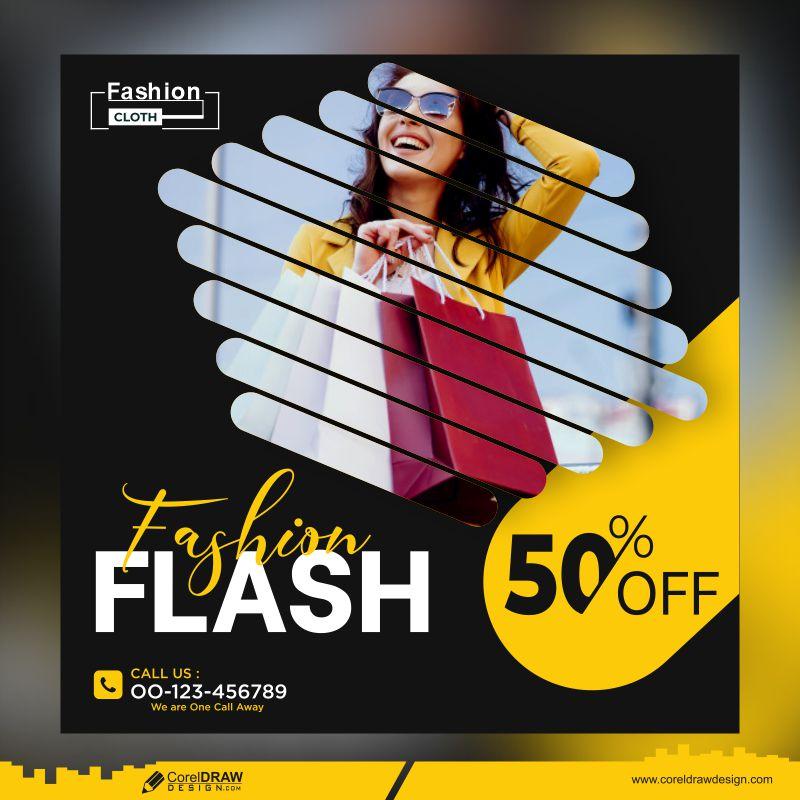 Flash Sale Banner Template Free Premium Vector