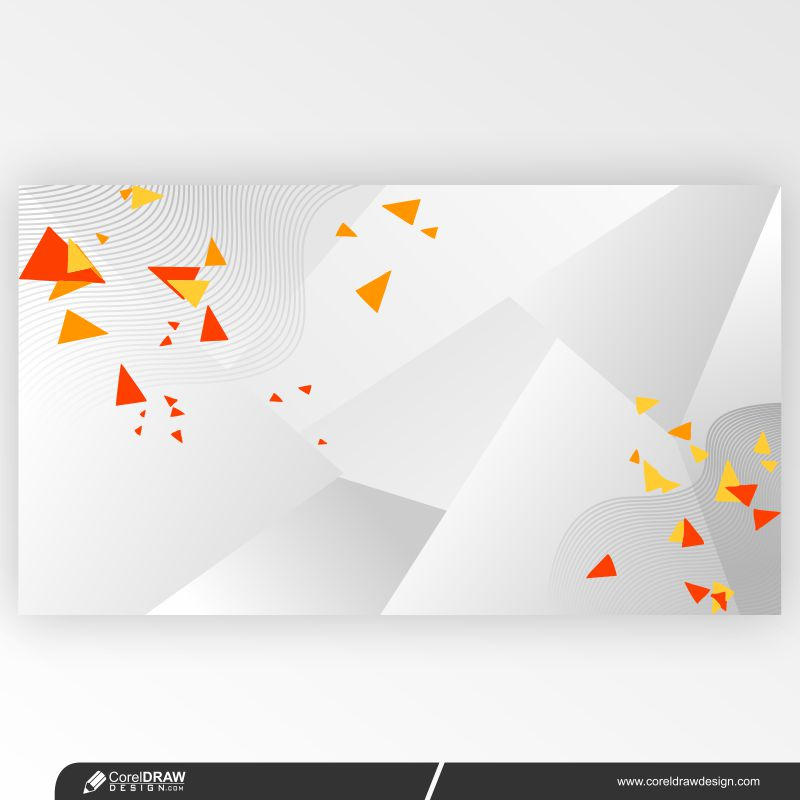 Gradient White Abstract Background & Colorful Particles Free Premium Vector