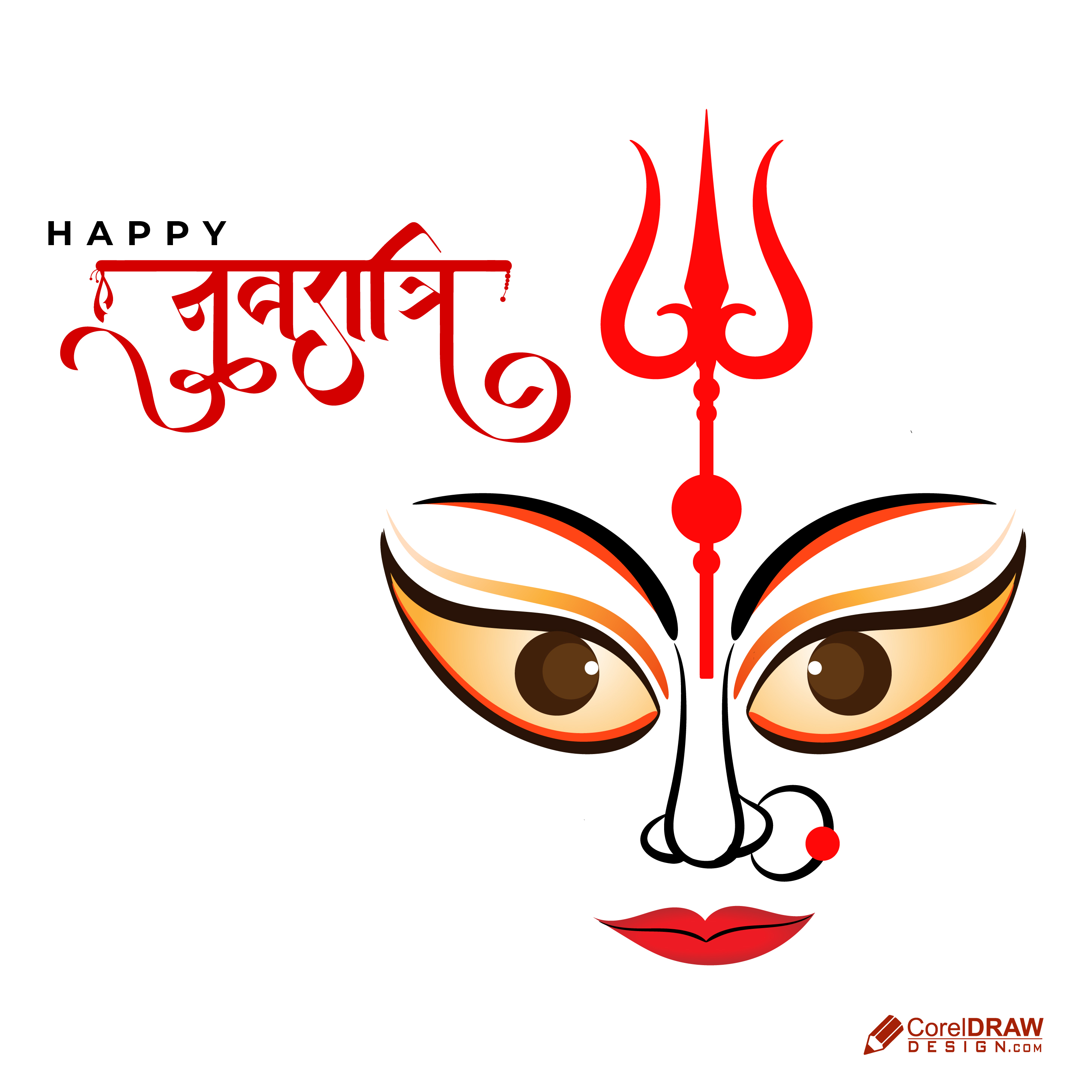 Happy Shubh Navratri Ethnic Festival Cultural Indian  Festival Background Wishes Card