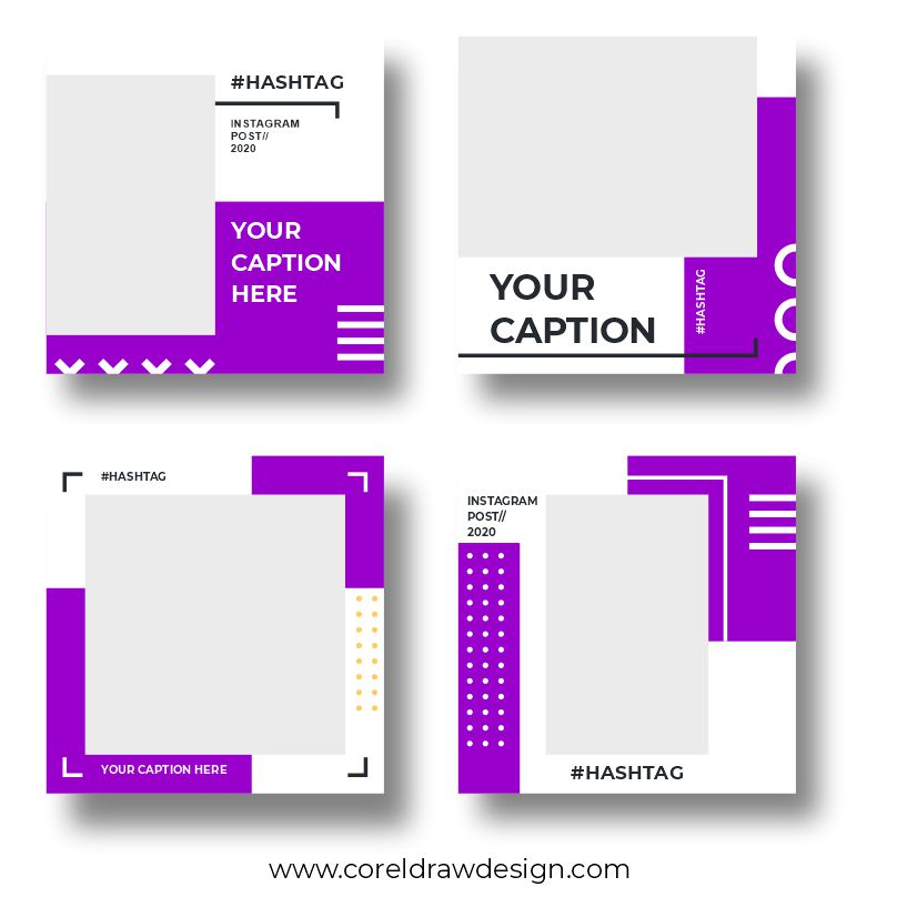 Instagram Poster Download Free CDR File From Coreldrawdesign