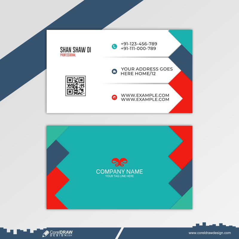 Modern Arrow Business Card Free Vector