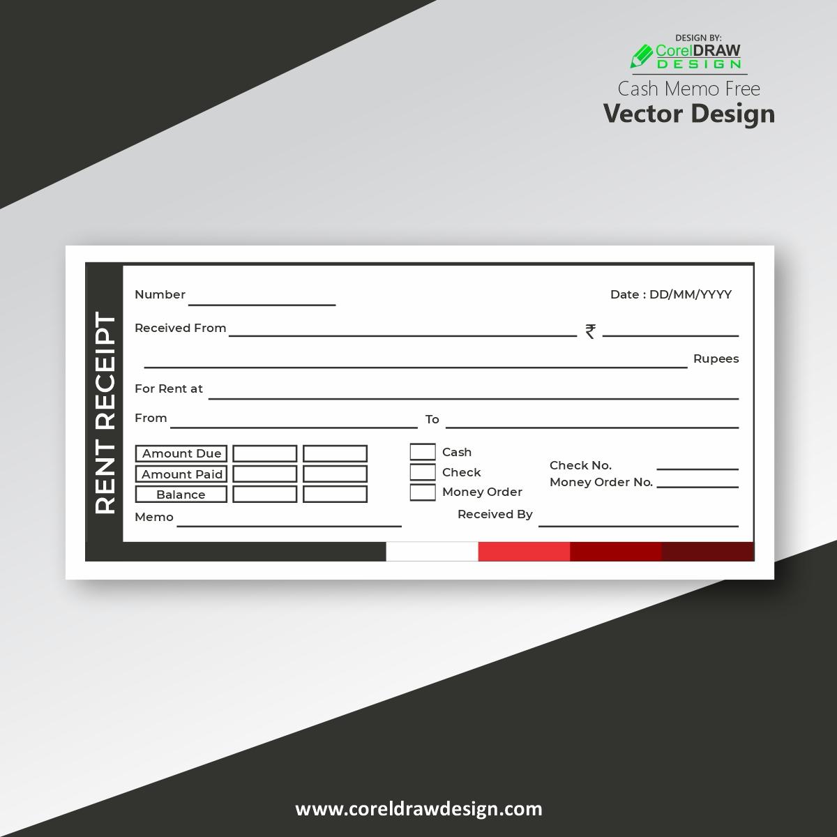 Download Rent Receipt Template Vector Design Coreldraw Design Download Free Cdr Vector Stock Images Tutorials Tips Tricks