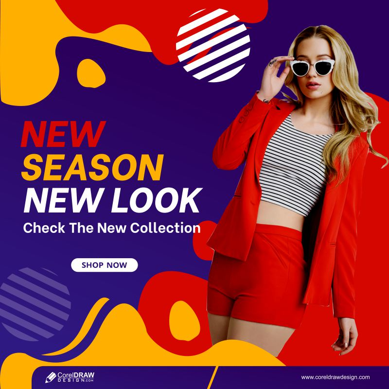 Social Media Post Instagram New Look Sale Fashion Banner Template