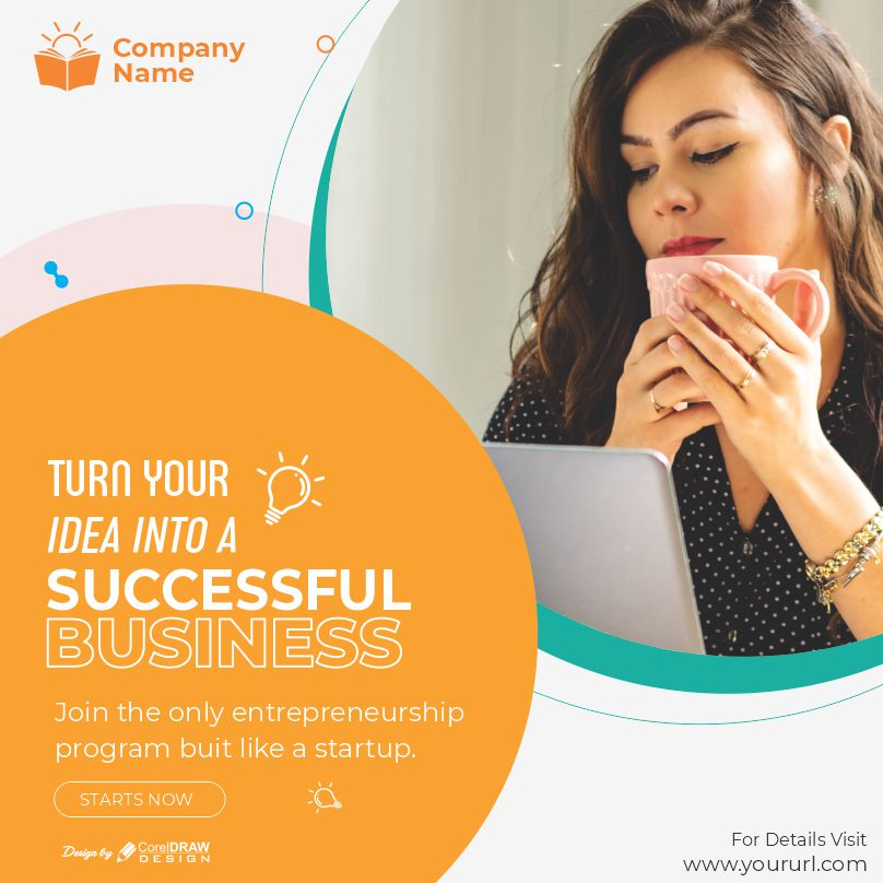 Turn Your Idea to Business Poster Download From Coreldrawdesign Free Vector