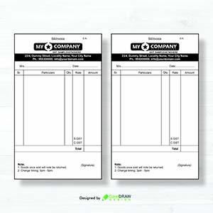 Bill Book CDR Vector Design