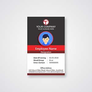 Red-black-corporate-id-card-badge-design