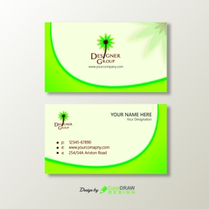 vector-green-simple-business-card-design