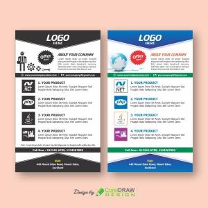 2 in 1 Single and 4 color Handbill Multipurpose Templates