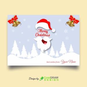 Vector Landscape Flat Design Christmas Card