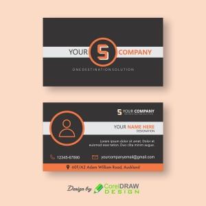 Modern Black-orange Business Card