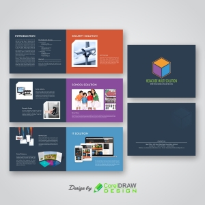 Multipage  Abstract Geometric Brochure Design