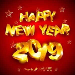 Golden Sparkle New Year Background