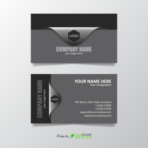 Black and Gray Business Card
