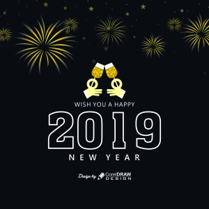 New Year 2019 Party Background