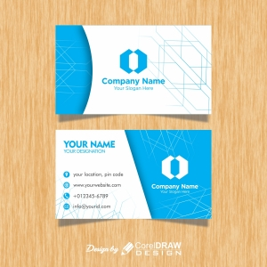 Abstract Blue Business Card