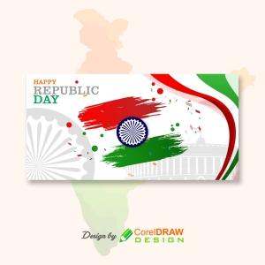 Happy Republic Day Tiranga Banner
