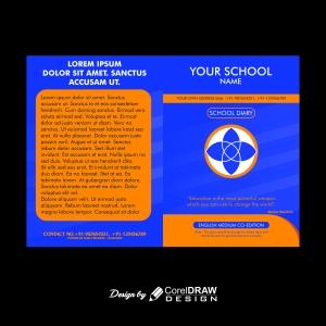 Simple Blue-Orange School Diary Cover