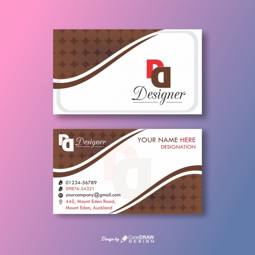 Designers Abstract Brown Business Card
