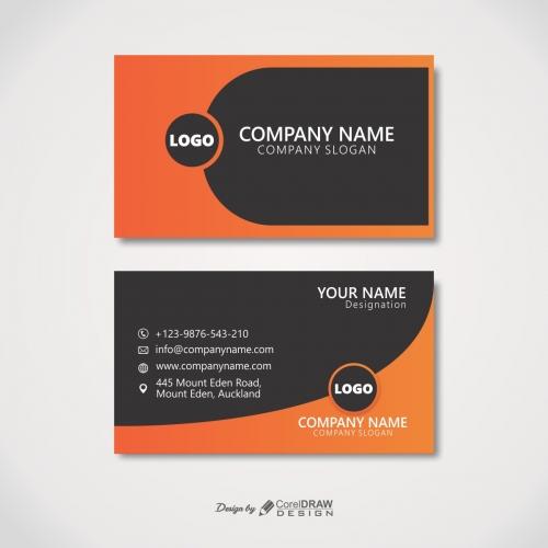 Orange-Black shape Visiting Card