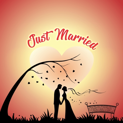 Just Married Couple Romantic background