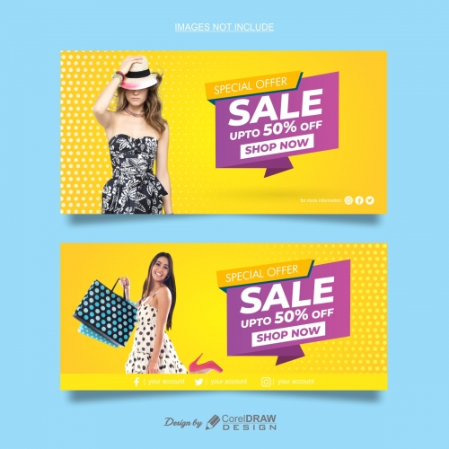 Abstract Fashion Sale Banner Templates