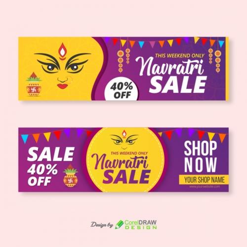 Navratri Sale Banner Design