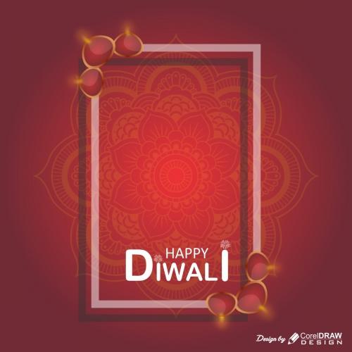 Happy Diwali Background with Mandala