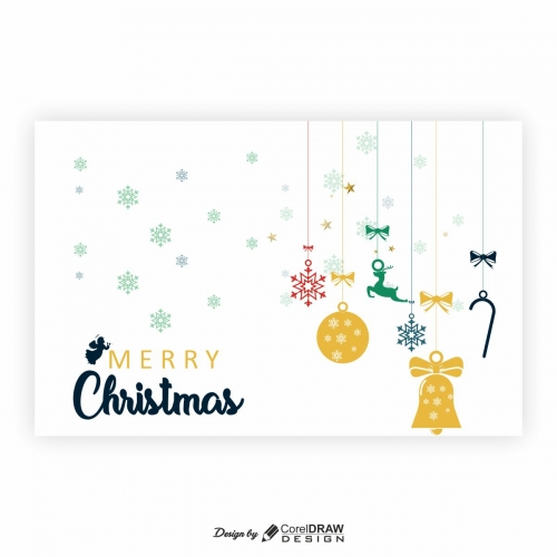 Christmas hanging particles cdr