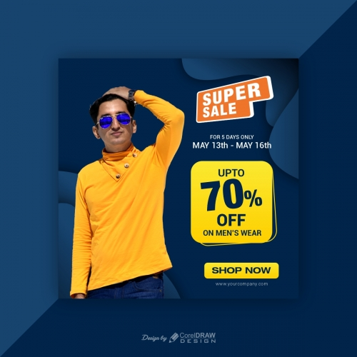 Modern Fashion Sale Banner for Web and Instagram Post