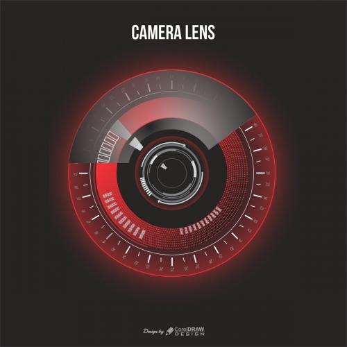 Vector Realistic Camera Lens