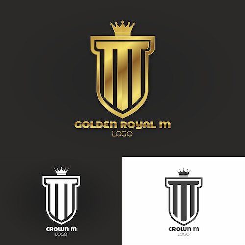 Crown M Letter Logo Template