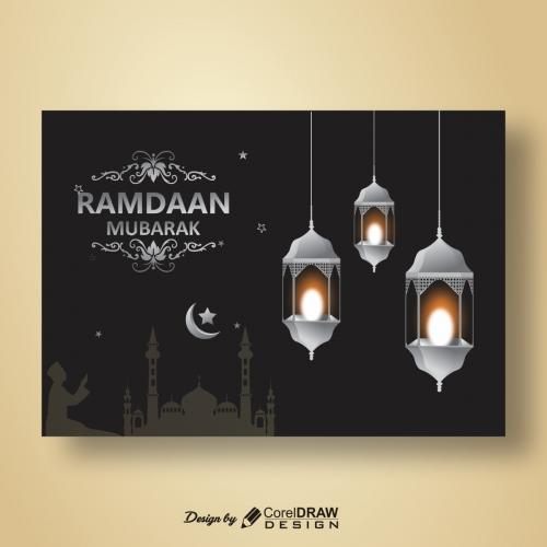 Ramzan mubarak hanging lantern