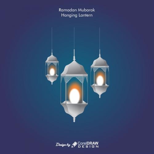 Ramdan mubarak hanging lantern