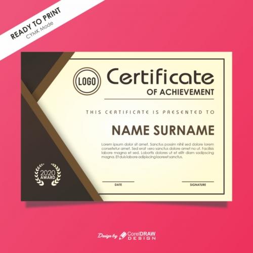Certificate Template of Elegant Design Free Vector