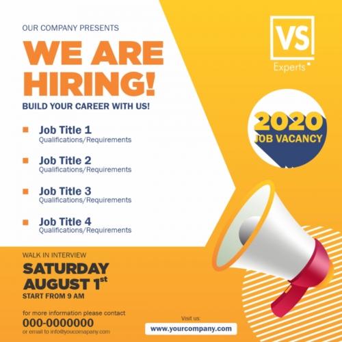 We are Hiring Job Vacancy Banner Design