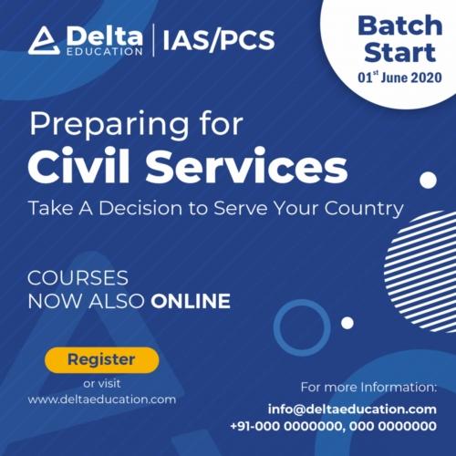 Civil Service Prepration Advertisement Banner Design