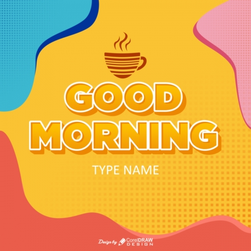Good Morning Post 3D Text Style