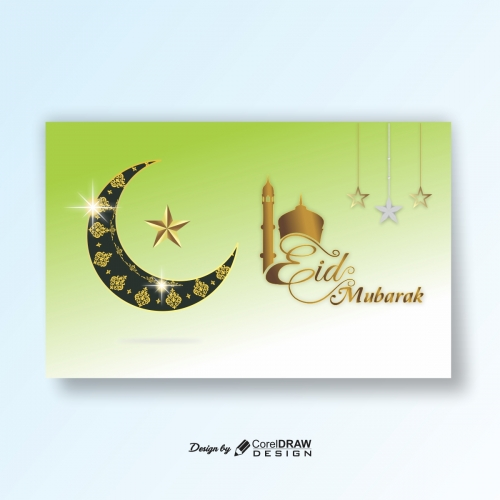 Realistic eid mubarak background with Star