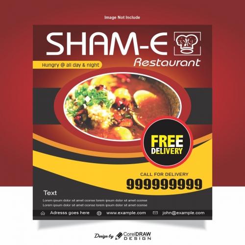 Restaurant food Banner Template
