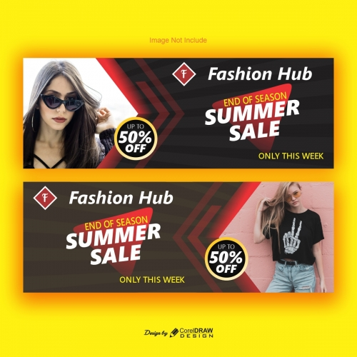 Fashion Hub Banner Design