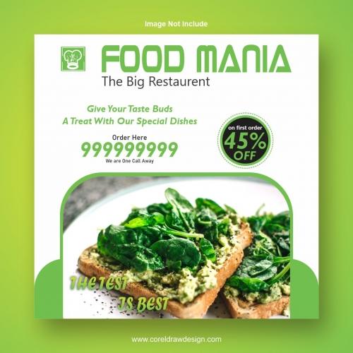 Food ManiaTemplate Design