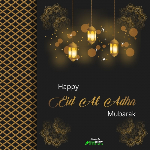 Decorative Eid Al Adha Mubarak Festival Background Free Vector